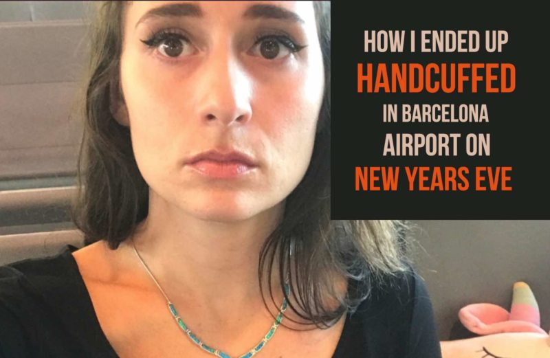 Handcuffed in Barcelona airport