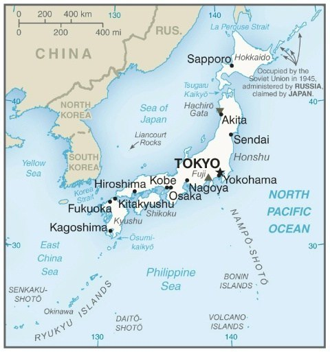 Where is japan travel map