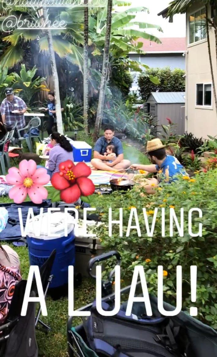 little luau with friends