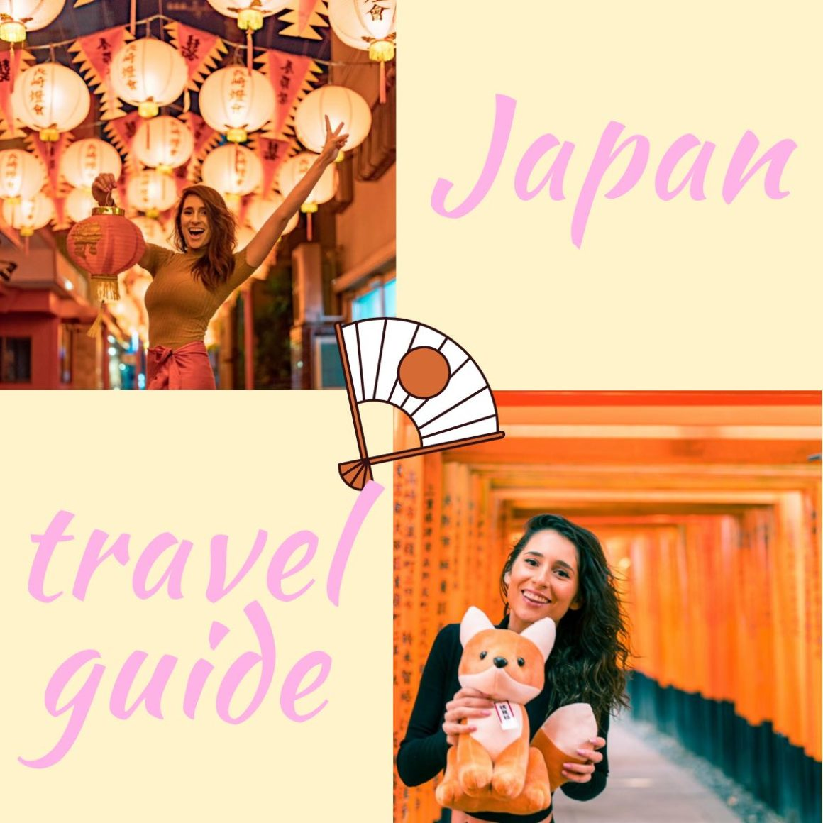 Japan travel guide with alyne