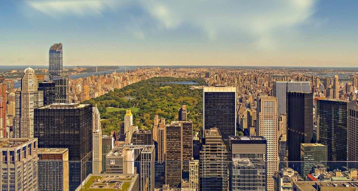 manhattan with central park